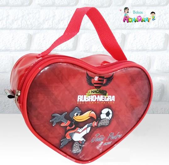 Bolsa Coração Tema Flamengo
