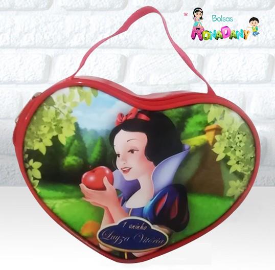 Bolsa Coração tema Branca de Neve