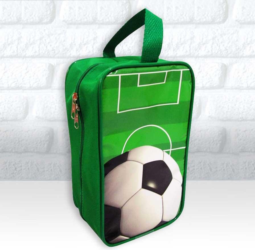 314d2d22d6 Bolsinha Personalizada Porta Chuteira Tema Futebol