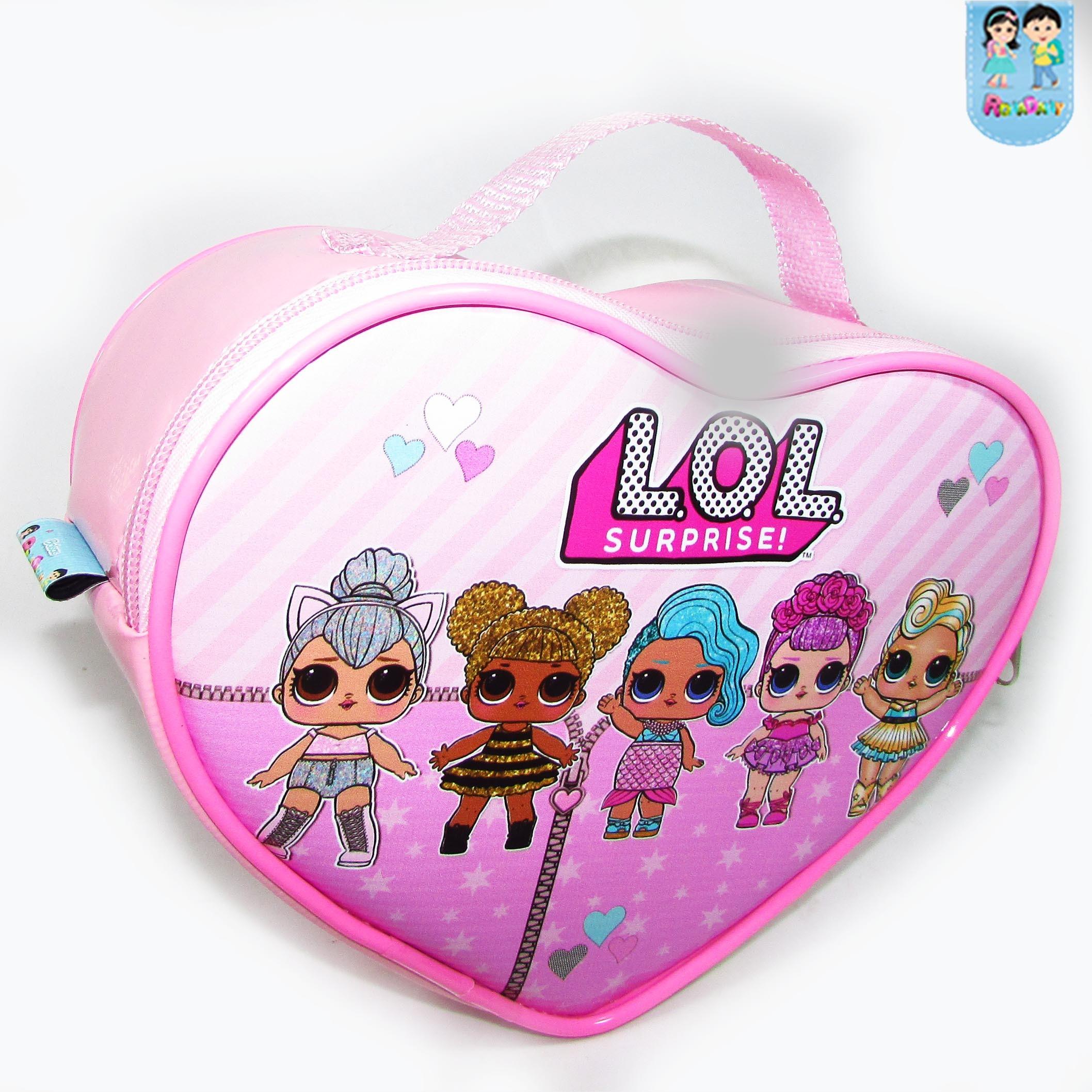 Bolsa Coração tema Lol Surprise