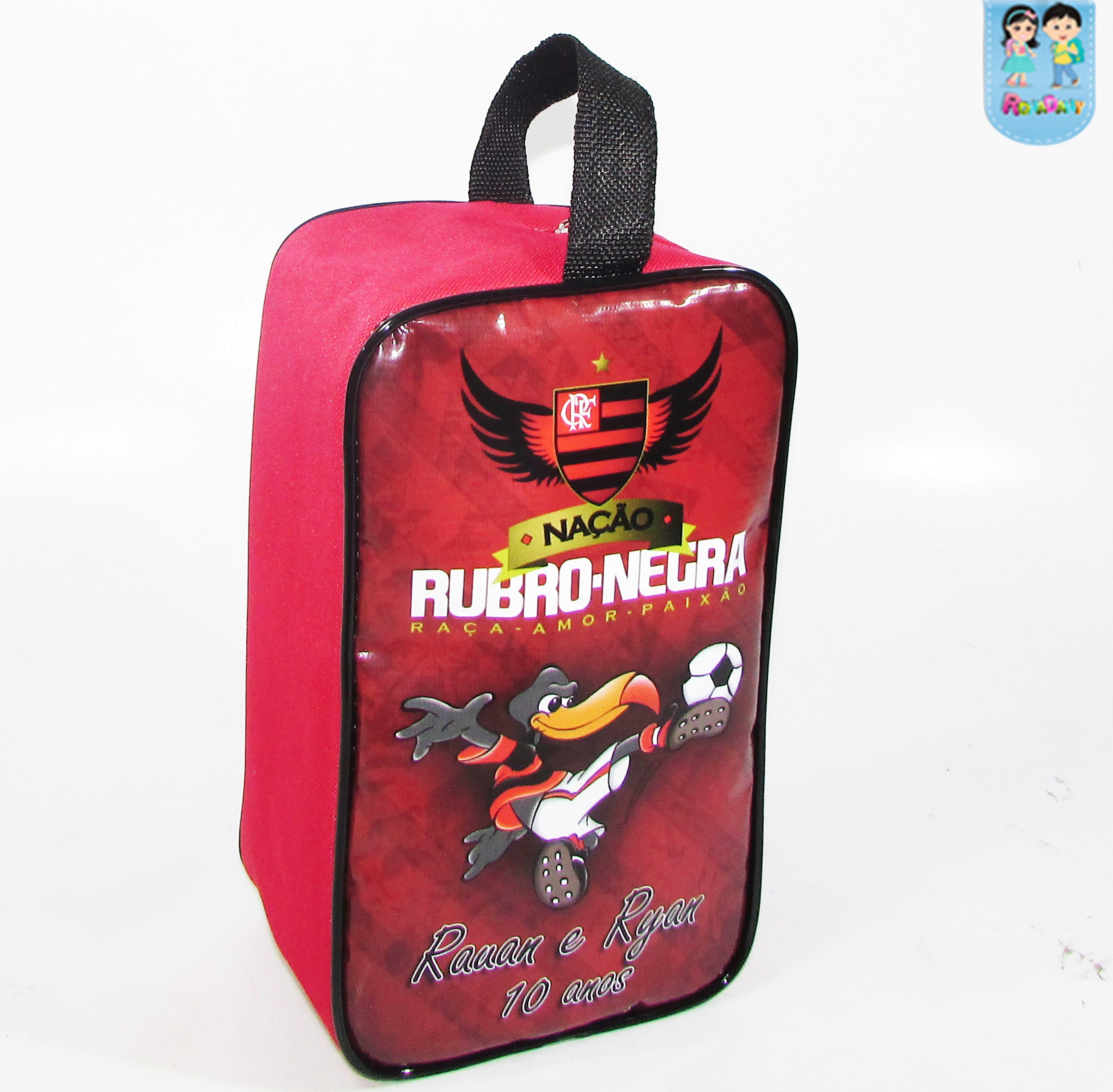 c3a80a8d536b8 Porta Chuteira Personalizada Tema Flamengo
