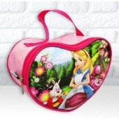 Bolsinha Personalizada Coração Tema Alice no País das  Maravilha