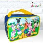 Maletinha Retangular Tema Turma do Mickey
