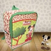 Mochila G  Personalizada Tema Mickey Safari