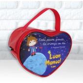 Bolsinha Personalizada Coração Tema Pequeno Principe