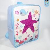 mochila g Quadrada estrela do mar