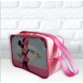 Retangular Alça 50cm -Tema da Minnie e Mickey