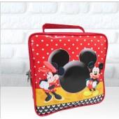 Maletinha Quadrada Tema Mickey e Minnie