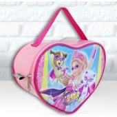 Bolsinha Personalizada Coração Tema Barbie Super Princesa