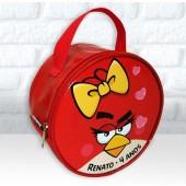 Bolsinha redonda tema Angry birds