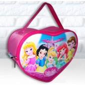 Bolsinha Personalizada Coração Tema Princesas Baby