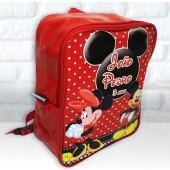 Mochila G  Personalizada Tema Mickey e Minnie