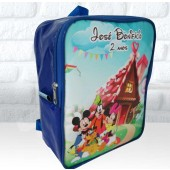 Mochila G personalizada tema Turma do Mickey Candy Party