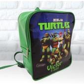 Mochila G  Personalizada Tema tartaruga ninja