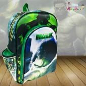 Mochila Escolar Com Alça s/ carrinho tema Hulk