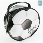 Bolsinha redonda tema bola de futebol
