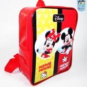 mochila g Quadrada Mickey e Minnie