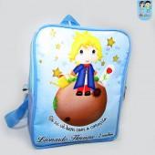 Mochila G  personalizada tema o pequeno príncipe