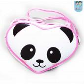 Bolsa Coração tira colo tema Panda