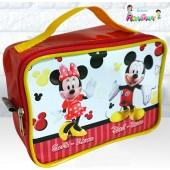Maletinha Retangular Tema Mickey e Minnie