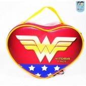 Bolsinha Personalizada Coração Tema Mulher Maravilha