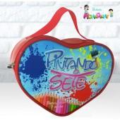 Bolsa Coração tema Pintando o Sete